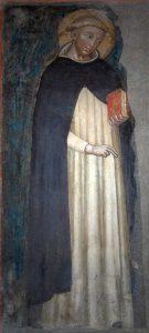 Det eldste kjente maleriet av St. Dominikus, 1300-tall. Ukjent maler.